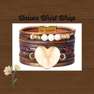 Jewelry - (E) BRACELET▪️Brown Leather Boho Wrap Wrist Cuff